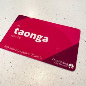 Christchurch City Council Library Card - He taonga tuku iho - Nga Kete Wananga-o-Otautahi