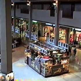 Inside Randhurst Mall in 1989, looking at the Things Remembered kiosk