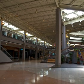 Randhurst Mall in Mount Prospect, Illinois looking very empty in the final years of its life as a mall