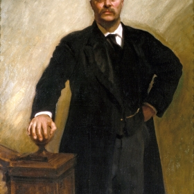 Portrait of President of the United States Theodore Roosevelt by John Singer Sargent