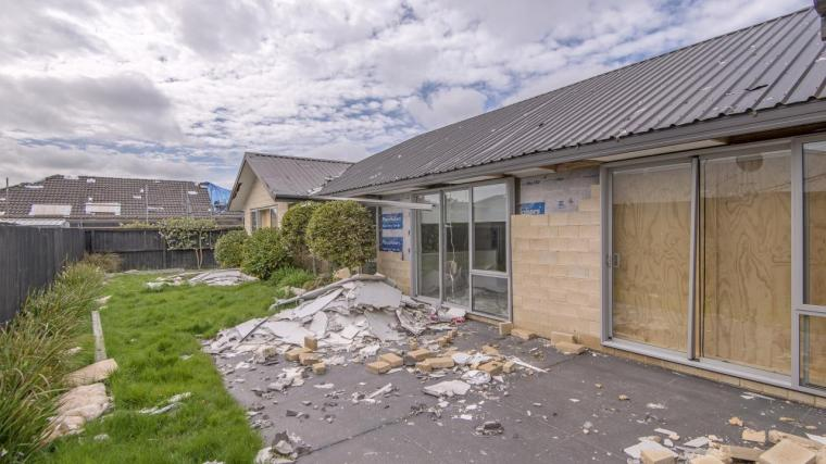 Neighboring Houses Severely Damaged by the Gas Explosion on 19 July 2019 in Northwood, Christchurch, New Zealand - Baileys