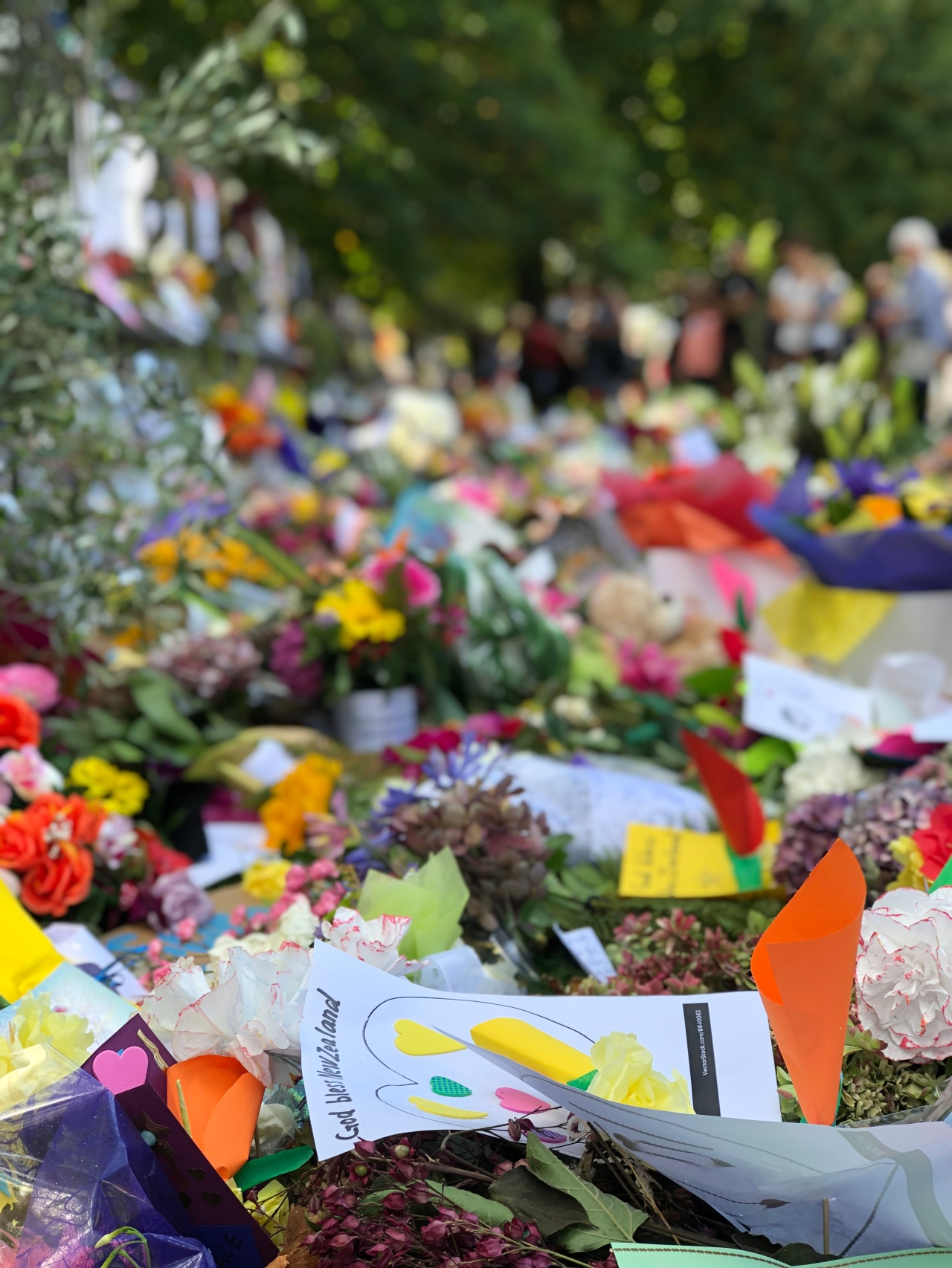 Floral tributes for the victims of the Christchurch terrorist attacks