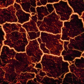 cracks in the earth with glowing in the cracks. Lava by Arcturian on Pixabay
