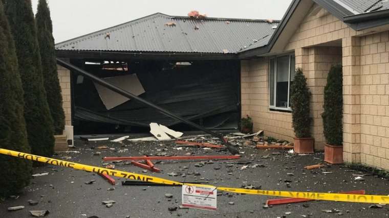Neighboring House Severely Damaged by the Gas Explosion on 19 July 2019 in Northwood, Christchurch, New Zealand - Reddit