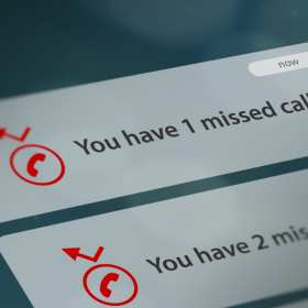Missed Call Cell Phone Screen