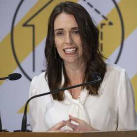 Prime Minister of New Zealand Jacinda Ardern Announcing New Zealand's Move to Level 3 on 20 April 2020